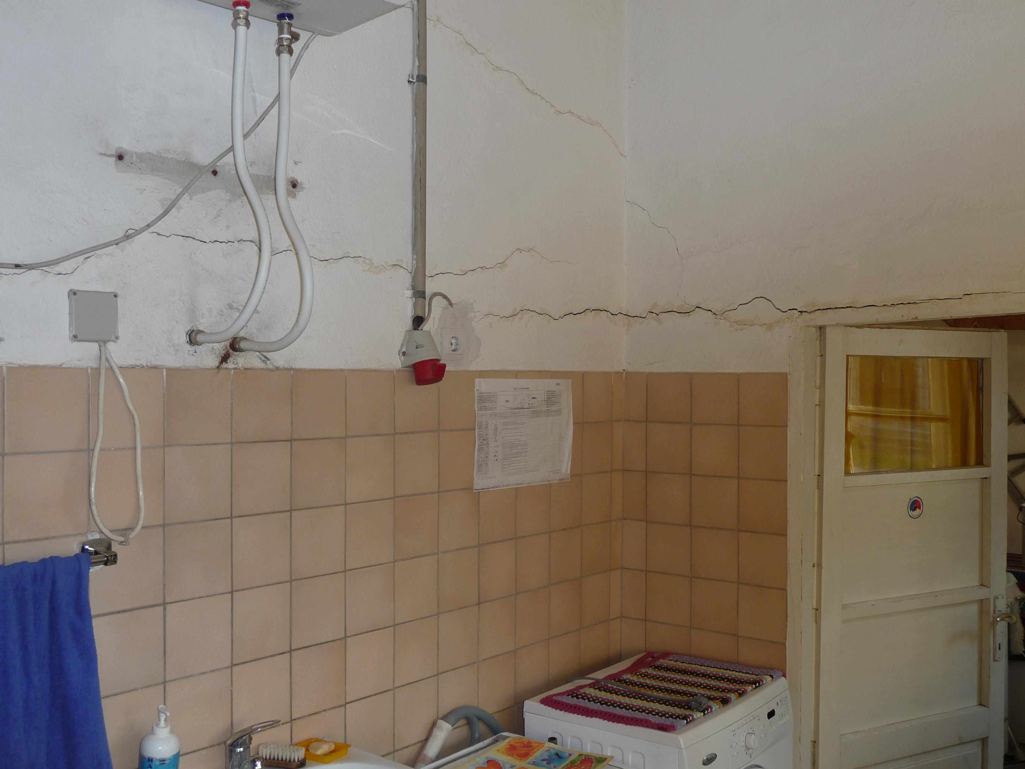 1 De wasruimte gepland voor renovatie